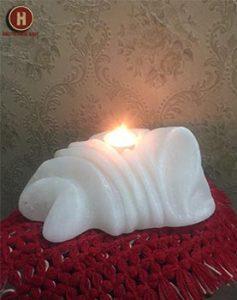salt candle holder
