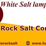 white salt lamp