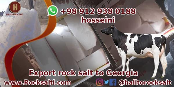 Supply of livestock rock salt